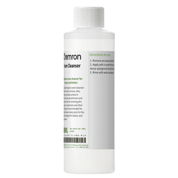 Cream cleanser bottle
