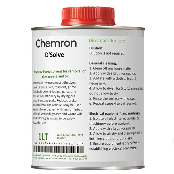 D'Solve | Degreasing Chemicals