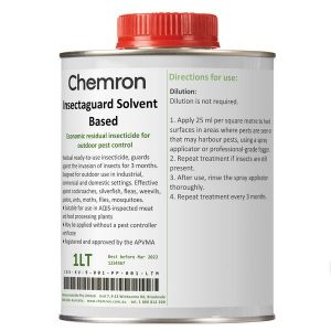 Insectaguard solvent based can