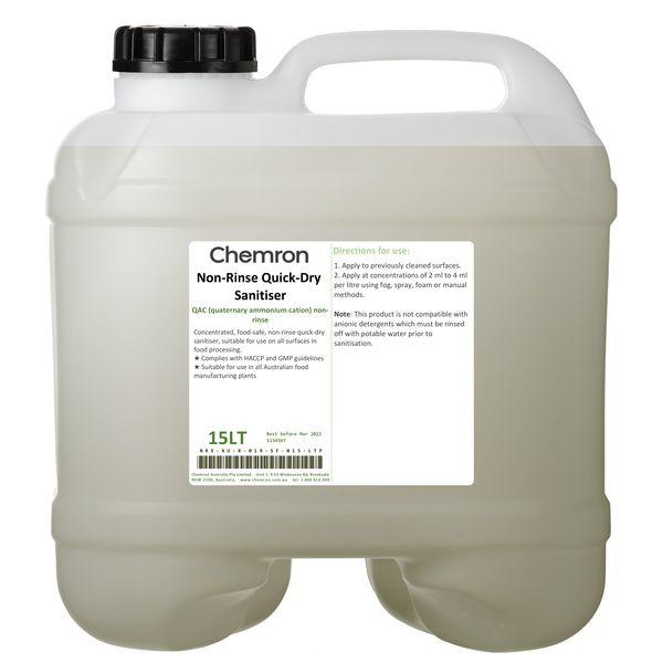 Non-Rinse Quick-Dry Sanitiser   Sanitising Chemicals