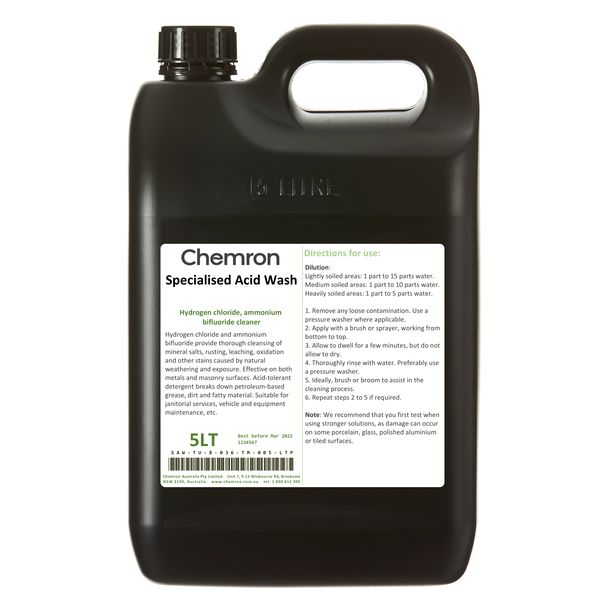 Specialised acid wash - heavy duty equipment cleaner