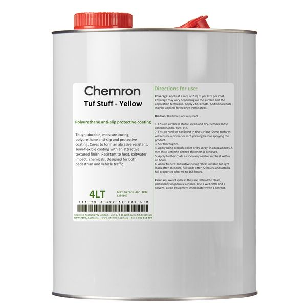 Tuf Stuff - Yellow | Surface Coating Chemicals